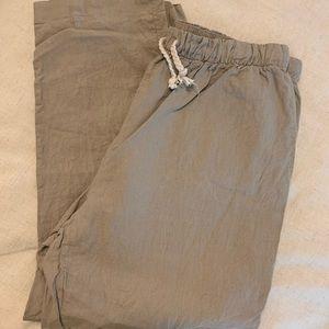 ZARA Linen Pants with Pockets